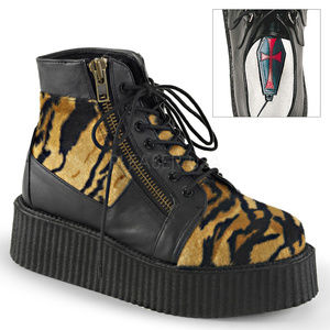 Other - Mens Platform Lace Up Tiger Oxford Creeper Boots